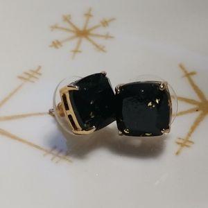 Kate spade black and gold stud earrings